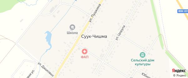 Юбилейная улица на карте села Суука-Чишма с номерами домов