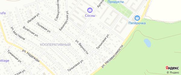 Улица Мухаметгалея Искужина на карте Уфы с номерами домов