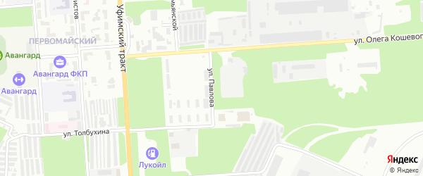 Улица Павлова на карте Стерлитамака с номерами домов