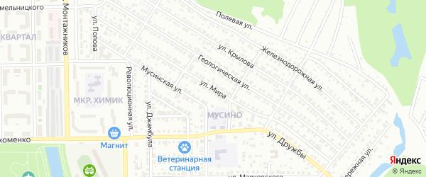 Улица Мира на карте Салавата с номерами домов