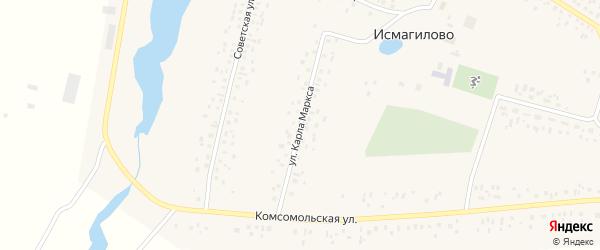 Улица Карла Маркса на карте села Исмагилово с номерами домов