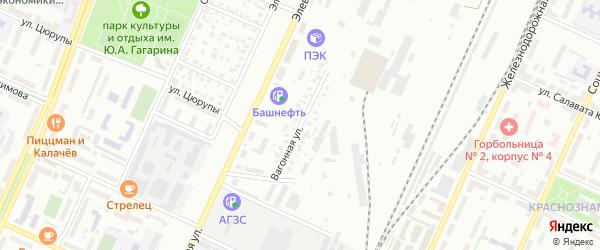 Вагонная улица на карте Стерлитамака с номерами домов
