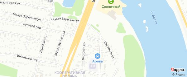 Заречная улица на карте села Вотикеево с номерами домов