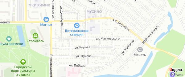 Улица Маяковского на карте Салавата с номерами домов