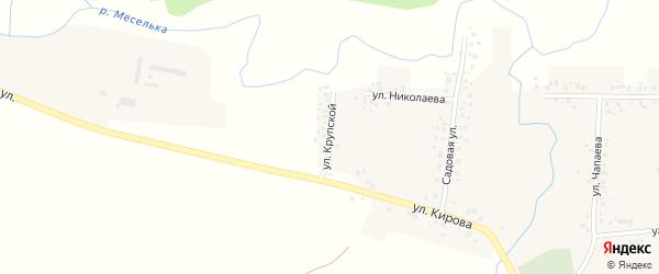 Улица Крупской на карте села Ишпарсово с номерами домов