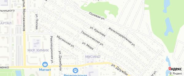 Геологическая улица на карте Салавата с номерами домов