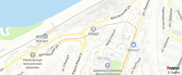 Улица Свидерского на карте Уфы с номерами домов