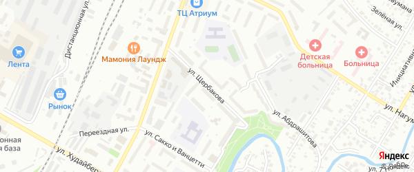 Улица Щербакова на карте Стерлитамака с номерами домов