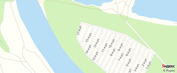 15-я улица на карте 40-й микрорайона с номерами домов