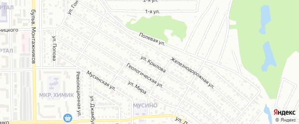 Улица Крылова на карте Салавата с номерами домов