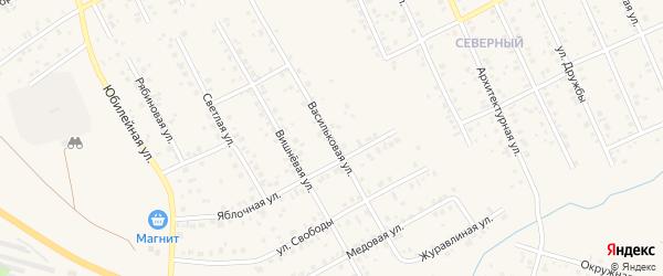 Васильковая улица на карте Благовещенска с номерами домов