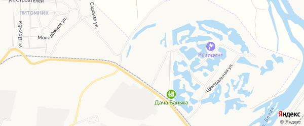 СТ N 4 Строитель на карте Мелеуза с номерами домов