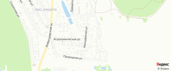 Молодежная улица на карте Октябрьского с номерами домов