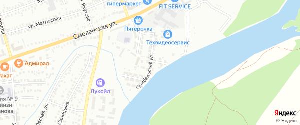 Прибельская улица на карте Мелеуза с номерами домов