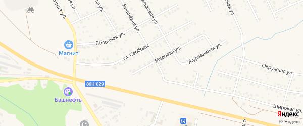 Медовая улица на карте Благовещенска с номерами домов