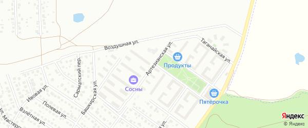 Артезианская улица на карте Уфы с номерами домов