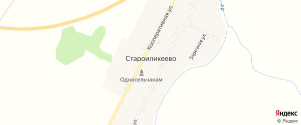 Заречная улица на карте деревни Староиликеево с номерами домов