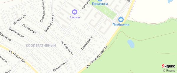 Иремельская улица на карте Уфы с номерами домов