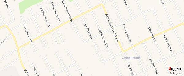 Улица Победы на карте Благовещенска с номерами домов