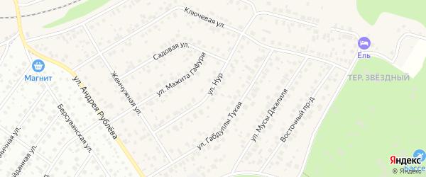 Улица Нур на карте села Чесноковки с номерами домов