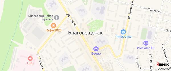 Тупик Гагарина на карте Благовещенска с номерами домов