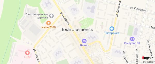 Вишневая улица на карте Благовещенска с номерами домов