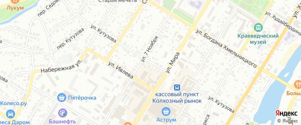 Улица Кутузова на карте Стерлитамака с номерами домов