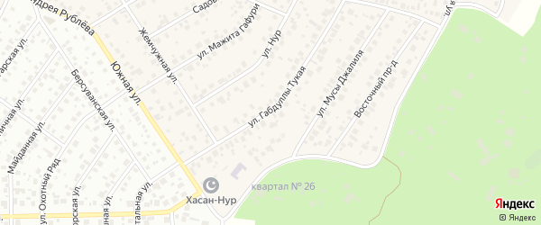 Г.Тукая улица на карте села Чесноковки с номерами домов