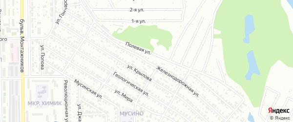 Железнодорожная улица на карте Салавата с номерами домов