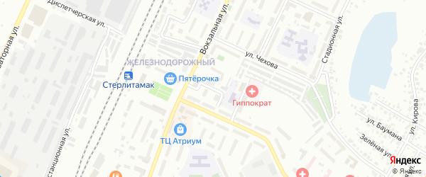 Паровозная улица на карте Стерлитамака с номерами домов