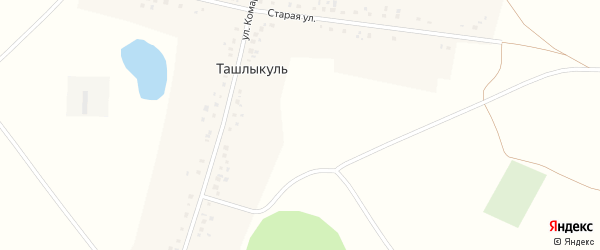 Улица Комарова на карте деревни Ташлыкуля с номерами домов
