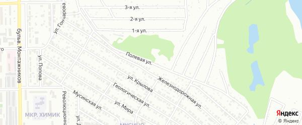 Полевая улица на карте Салавата с номерами домов