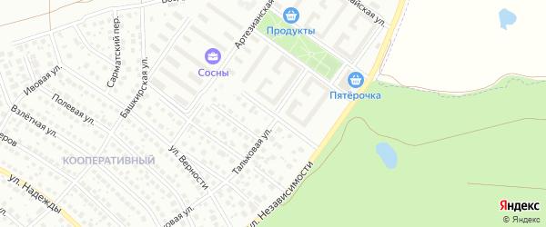 Улица Мусы Валитова на карте Уфы с номерами домов