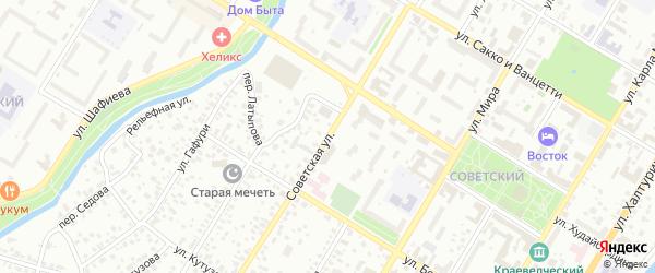 Советская улица на карте Стерлитамака с номерами домов