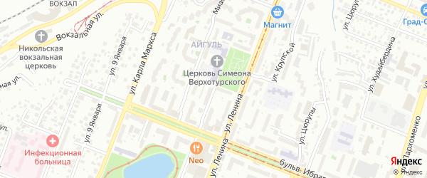 Улица Белякова на карте Уфы с номерами домов