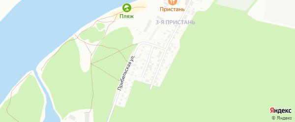 Прибельский переулок на карте Уфы с номерами домов