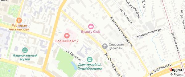 Улица Октябрьской Революции на карте Уфы с номерами домов