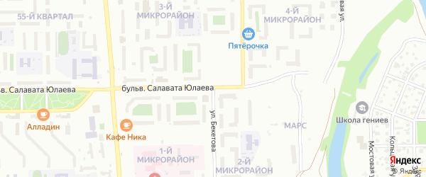 Улица Бекетова на карте Салавата с номерами домов