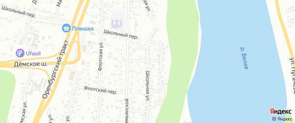 Школьная улица на карте Уфы с номерами домов