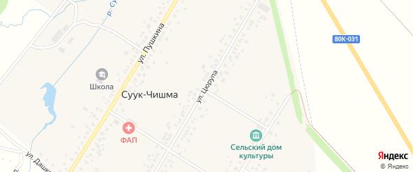 Улица Цюрупа на карте села Суука-Чишма с номерами домов