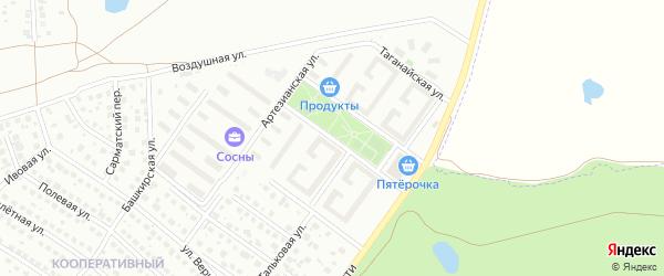 Улица Бану Валеевой на карте Уфы с номерами домов