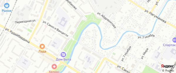 Подгорная улица на карте Стерлитамака с номерами домов