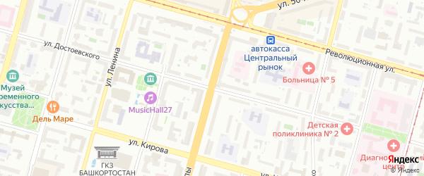 Улица Цюрупы на карте Уфы с номерами домов