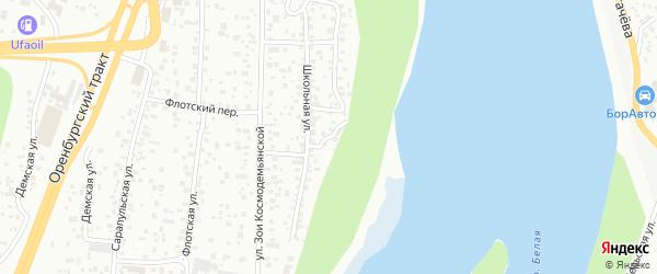 Лотовая улица на карте Уфы с номерами домов