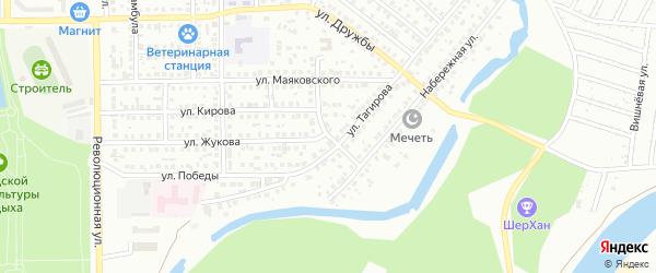 Улица Крупской на карте Салавата с номерами домов