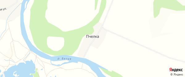 Карта деревни Пчелки в Башкортостане с улицами и номерами домов
