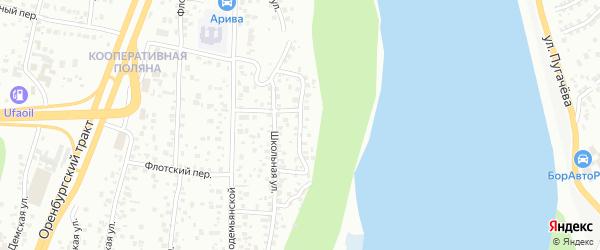 Малая Школьная улица на карте Уфы с номерами домов
