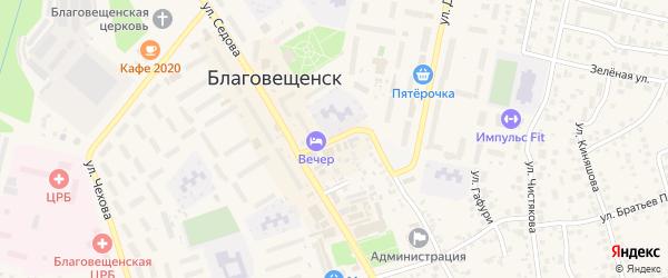 Полевая улица на карте Благовещенска с номерами домов