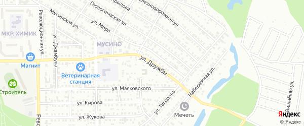 Улица Дружбы на карте Салавата с номерами домов