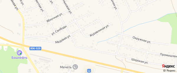 Журавлиная улица на карте Благовещенска с номерами домов